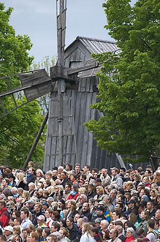 image 5-720-2848 Sweden, Stockholm, National day crowd at Skansen