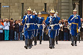 military uniform stock photography | Sweden, Stockholm, Changing of the guard, image id 5-720-3116