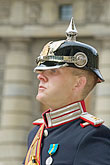 military uniform stock photography | Sweden, Stockholm, Band leader, Changing of the guard, image id 5-720-3158