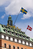 flag stock photography | Sweden, Stockholm, Grand Hotel, image id 5-720-3252