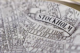 history stock photography | Sweden, Stockholm, Old map of Stockholm, image id 5-720-3275