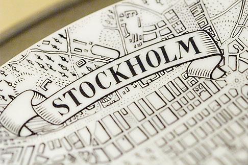 image 5-720-3277 Sweden, Stockholm, Old map of Stockholm