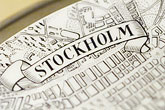 history stock photography | Sweden, Stockholm, Old map of Stockholm, image id 5-720-3277