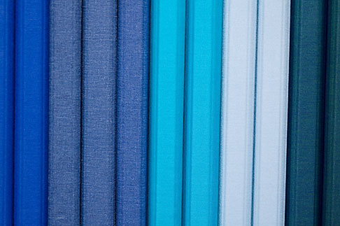 image 5-720-4052 Still life, Blue Cloth bound notebooks