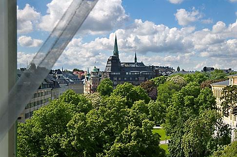 image 5-720-4296 Sweden, Stockholm, Humlegarden, from window of Lydmar Hotel