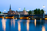 illuminated stock photography | Sweden, Stockholm, Riddarholmen, image id 5-720-4387