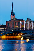 illuminated stock photography | Sweden, Stockholm, Riddarholmen, image id 5-720-4389