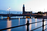 illuminated stock photography | Sweden, Stockholm, Stadshuset, image id 5-720-4392