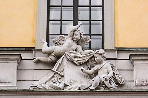 image 5-720-5884 Sweden, Stockholm, Stone carving, Slottsbacken