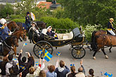 horse and carriage stock photography | Sweden, Stockholm, King Carl Gustaf XVI and Queen Silvia at Skansen, image id 5-720-5945