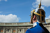 helmet stock photography | Sweden, Stockholm, Palace guard, image id 5-720-5987