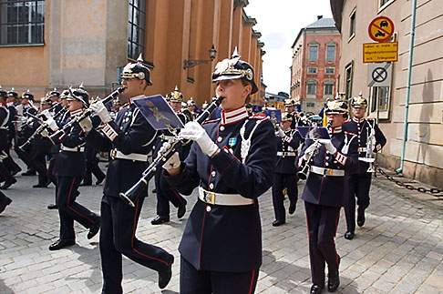 image 5-720-6112 Sweden, Stockholm, Band, Changing of the guard