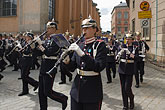 wide awake stock photography | Sweden, Stockholm, Band, Changing of the guard, image id 5-720-6112