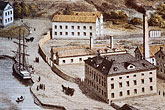 waterfront stock photography | Sweden, Gustavsberg, Painting of Old Stockholm, image id 5-720-6747