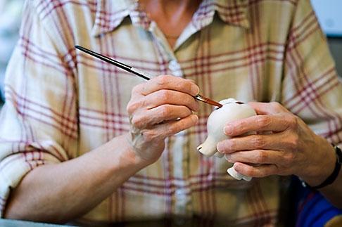image 5-720-6761 Sweden, Stockholm, Artisan painting porcelain