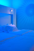 blue stock photography | Sweden, Stockholm, Nordic Light Hotel, room interior, image id 5-720-6834