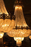 lit stock photography | Sweden, Stockholm, Berns Hotel, Chandeliers, image id 5-720-7060