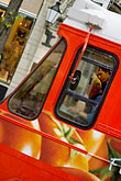 red stock photography | Sweden, Stockholm, Tram, image id 5-720-7084