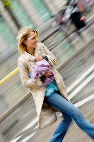 image 5-720-7098 Sweden, Stockholm, Crossing the street