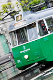 green stock photography | Sweden, Stockholm, Tram, image id 5-720-7103