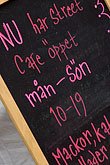 scandinavia stock photography | Sweden, Chalkboard restaurant menu, image id 5-720-7139