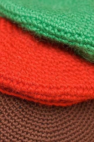 image 5-720-7265 Sweden, Stockholm, Street Market, Wool hats