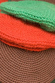 fabric stock photography | Sweden, Stockholm, Street Market, Wool hats, image id 5-720-7266