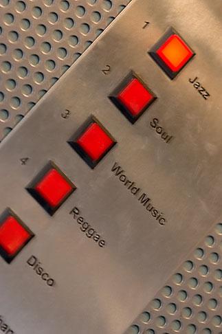 image 5-720-7486 Sweden, Stockholm, Lydmar Hotel, Music in Elevator