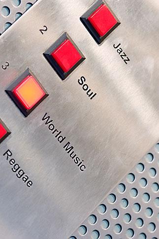 image 5-720-7493 Sweden, Stockholm, Elevator buttons, Lydmar Hotel