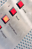 red stock photography | Sweden, Stockholm, Elevator buttons, Lydmar Hotel, image id 5-720-7493