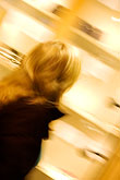 out of focus stock photography | Sweden, Stockholm, Woman shopping, image id 5-720-7665