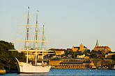 island stock photography | Sweden, Stockholm, Af Chapman clipper ship, image id 5-720-7776