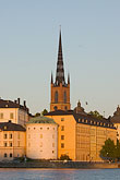 lake stock photography | Sweden, Stockholm, Riddarholmen church, image id 5-720-7808