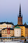 illuminated stock photography | Sweden, Stockholm, Riddarholmen church, image id 5-720-7888