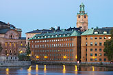 night stock photography | Sweden, Stockholm, Riddarholmen, image id 5-720-7909