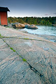 coast stock photography | Sweden, Grinda Island, Rocks and boathouse, image id 5-730-3386