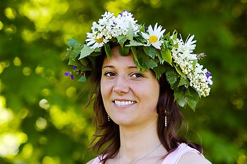 image 5-730-3445 Sweden, Grinda Island, Flowerwreath