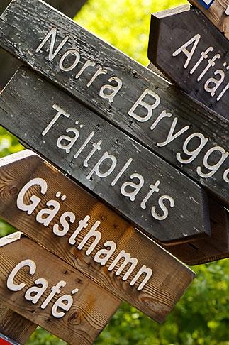 image 5-730-3682 Sweden, Grinda Island, Signs