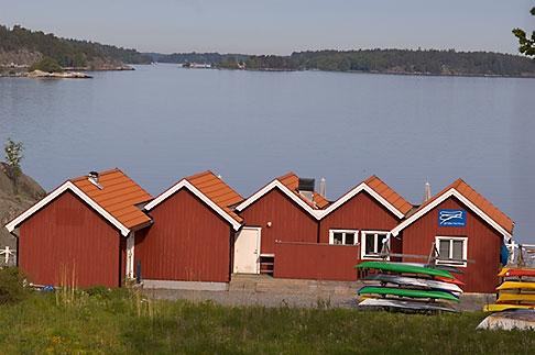 image 5-730-3804 Sweden, Grinda Island, Boathouses
