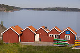red stock photography | Sweden, Grinda Island, Boathouses, image id 5-730-3804