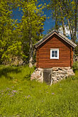 tree stock photography | Sweden, Grinda Island, Red summer house, image id 5-730-6416