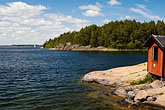 lakeside stock photography | Sweden, Grinda Island, Boathouse, image id 5-730-6430