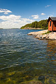 lakeside stock photography | Sweden, Grinda Island, Boathouse, image id 5-730-6431
