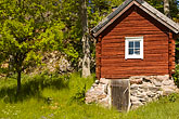 rustic stock photography | Sweden, Grinda Island, Red summer house, image id 5-730-6439