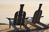 lakeside stock photography | Sweden, Grinda Island, Adirondack chairs, image id 5-730-6532