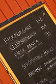 restaurant menu stock photography | Sweden, Chalkboard restaurant menu, image id 5-730-6536