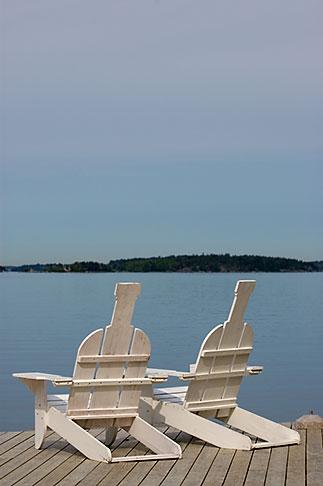 image 5-730-6585 Sweden, Grinda Island, Adirondack chairs