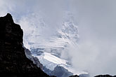 peak stock photography | Switzerland, Alps, M�nch glacier through the mist, image id 2-100-36