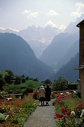 image 2-92-20 Switzerland, Bergell, Churchyard, Soglio