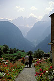 woman walking stock photography | Switzerland, Bergell, Churchyard, Soglio, image id 2-92-20